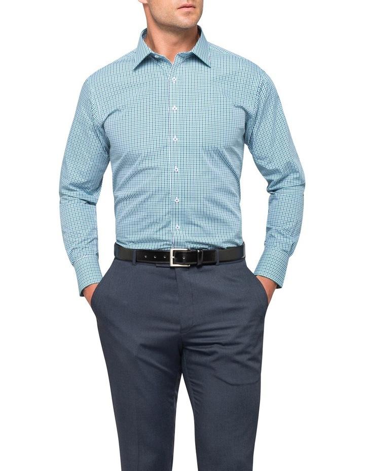 Green Check Business Shirt image 3
