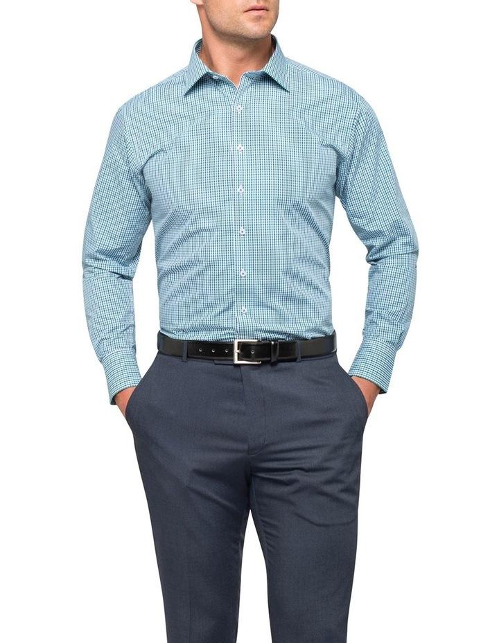 Green Check Business Shirt image 4