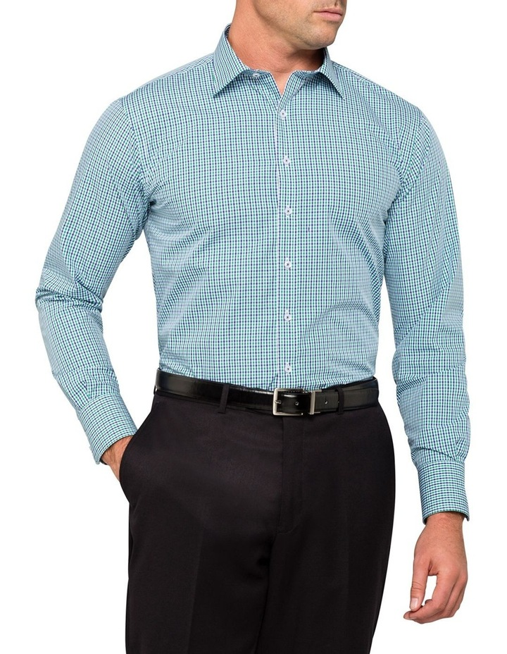 Green Check Business Shirt image 6