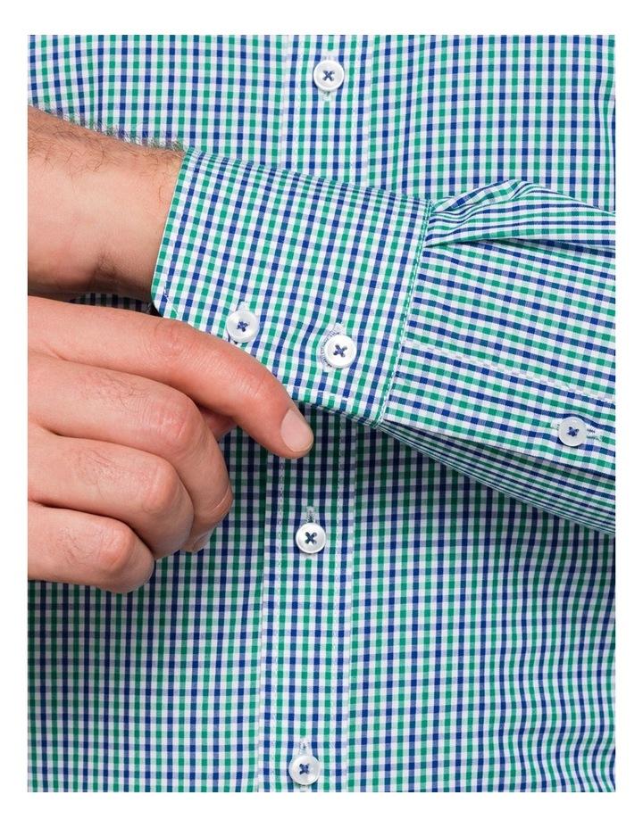 Green Check Business Shirt image 8
