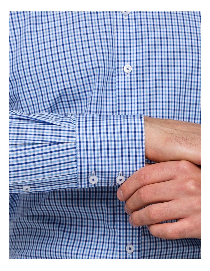 Blue Check Business Shirt image 3