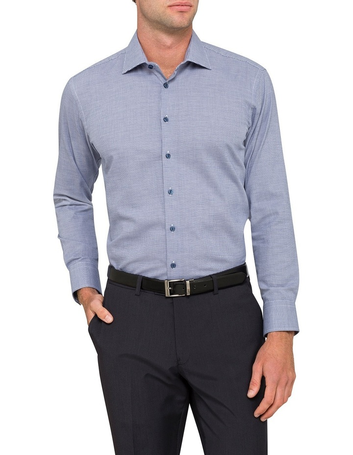 Cnvb Navy Check Business Shirt image 1