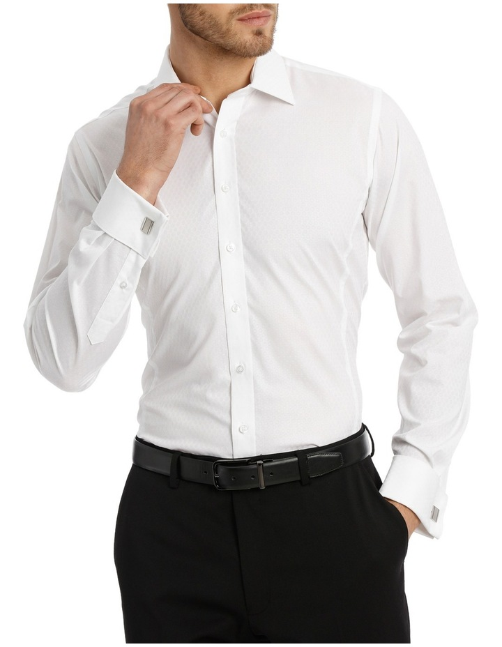 Harris Self Dot White Business Shirt image 1