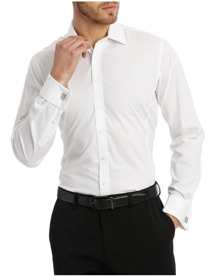 Harris Self Dot White Business Shirt image 2