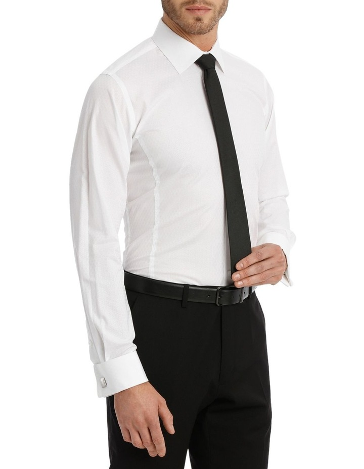 Harris Self Dot White Business Shirt image 4