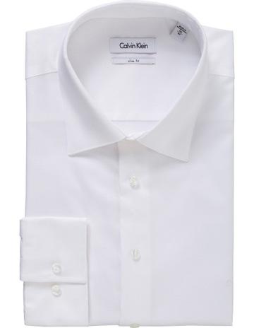 d2650e179ab05c Calvin KleinWhite Solid Business Shirt. Calvin Klein White Solid Business  Shirt