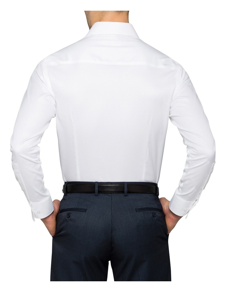 White Solid Business Shirt image 2