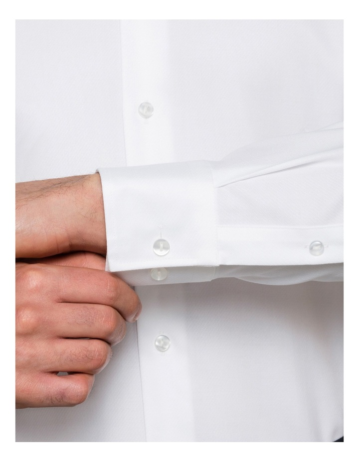 White Solid Business Shirt image 3