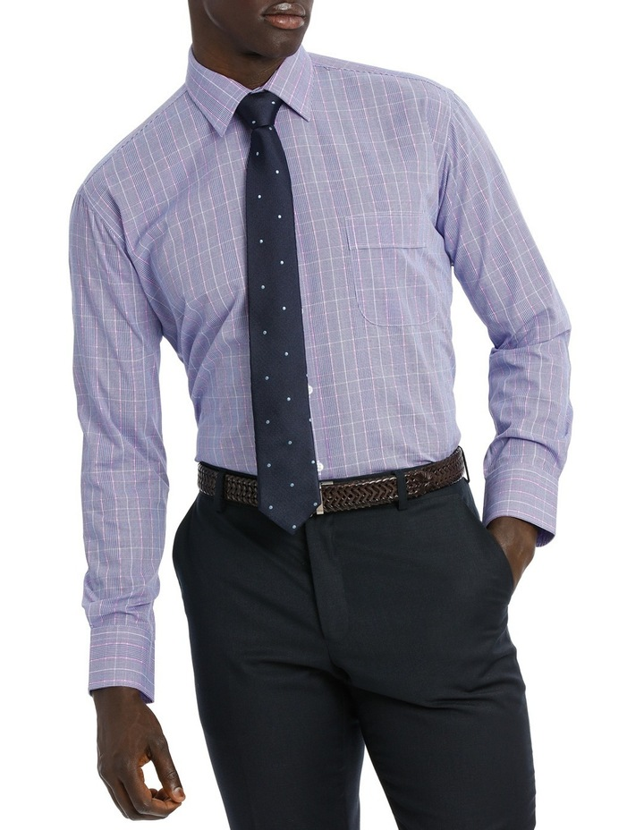 Classic Blue & Pink Check Business Shirt image 1