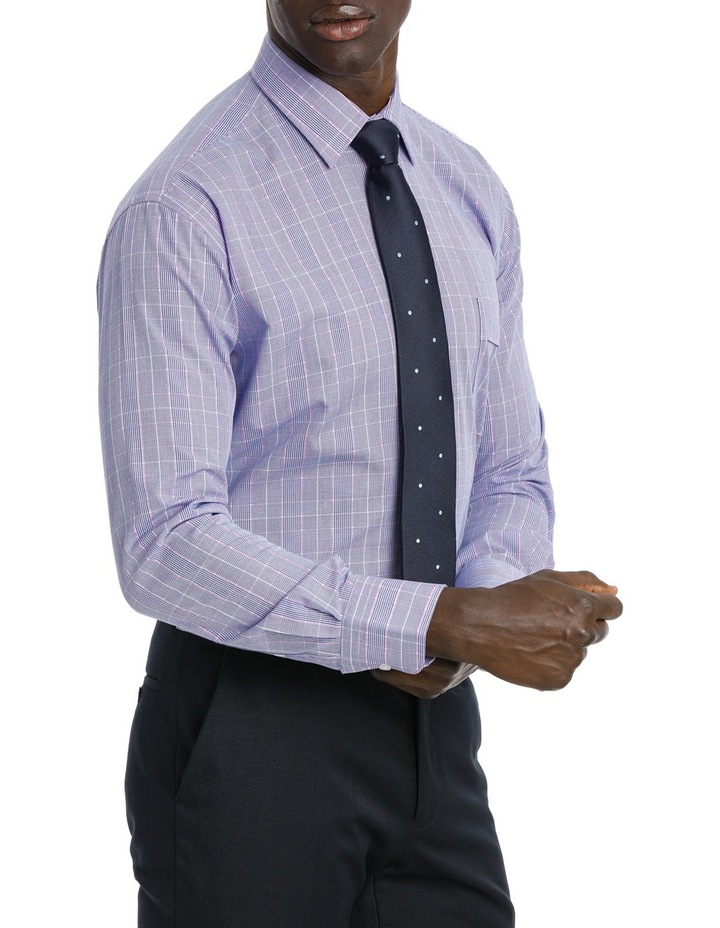 Classic Blue & Pink Check Business Shirt image 2
