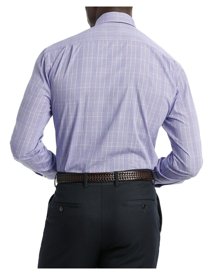 Classic Blue & Pink Check Business Shirt image 3