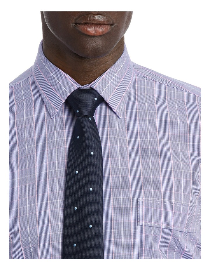 Classic Blue & Pink Check Business Shirt image 4