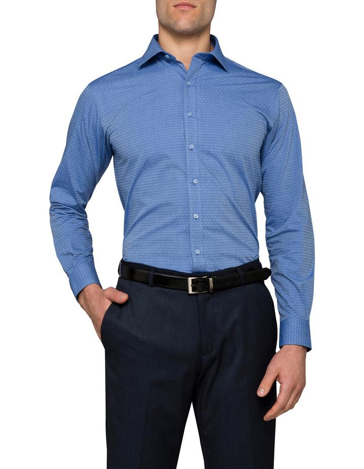 Blue Dobby Business Shirt image 1