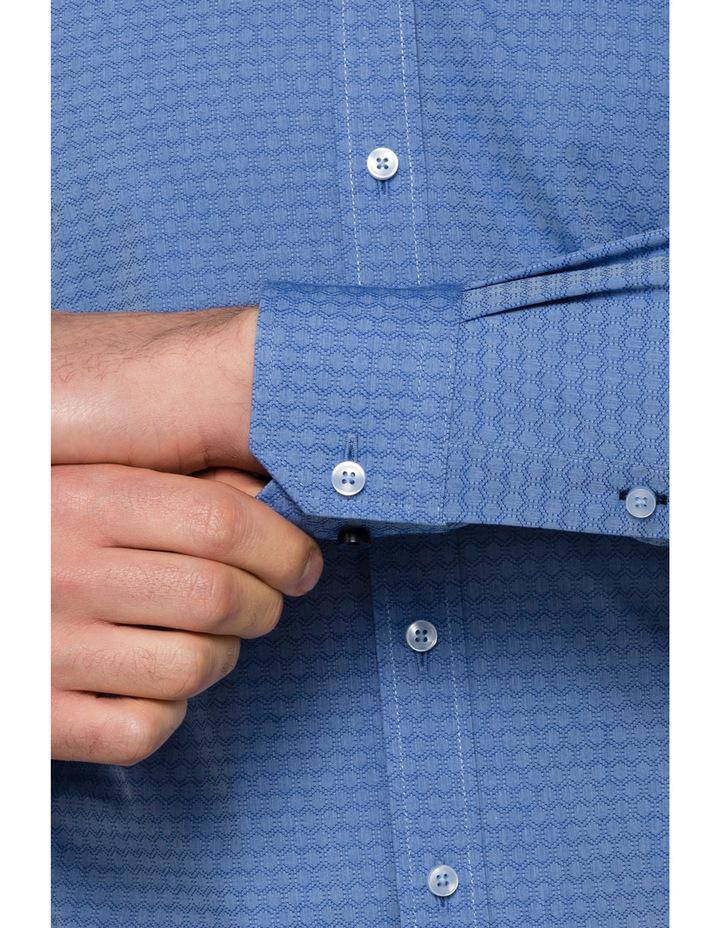 Blue Dobby Business Shirt image 3