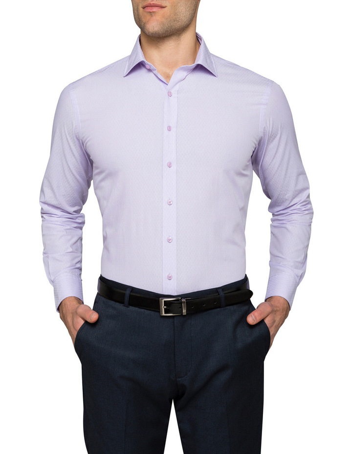 Lilac Dobby Business Shirt image 1