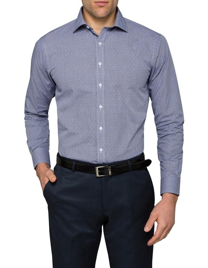 Navy Dobby Business Shirt image 1