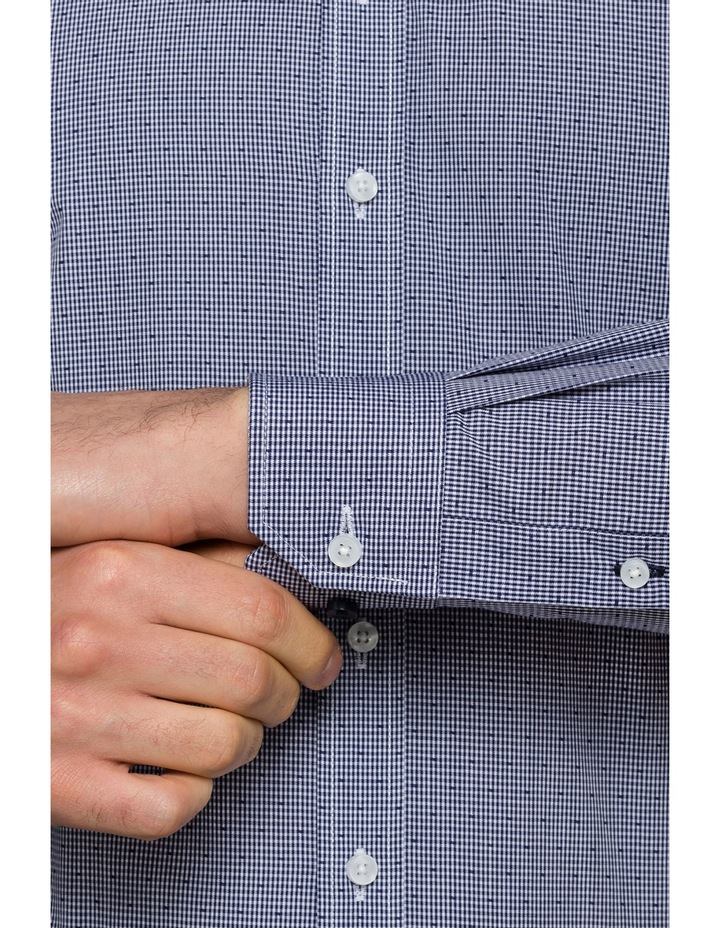 Navy Dobby Business Shirt image 3