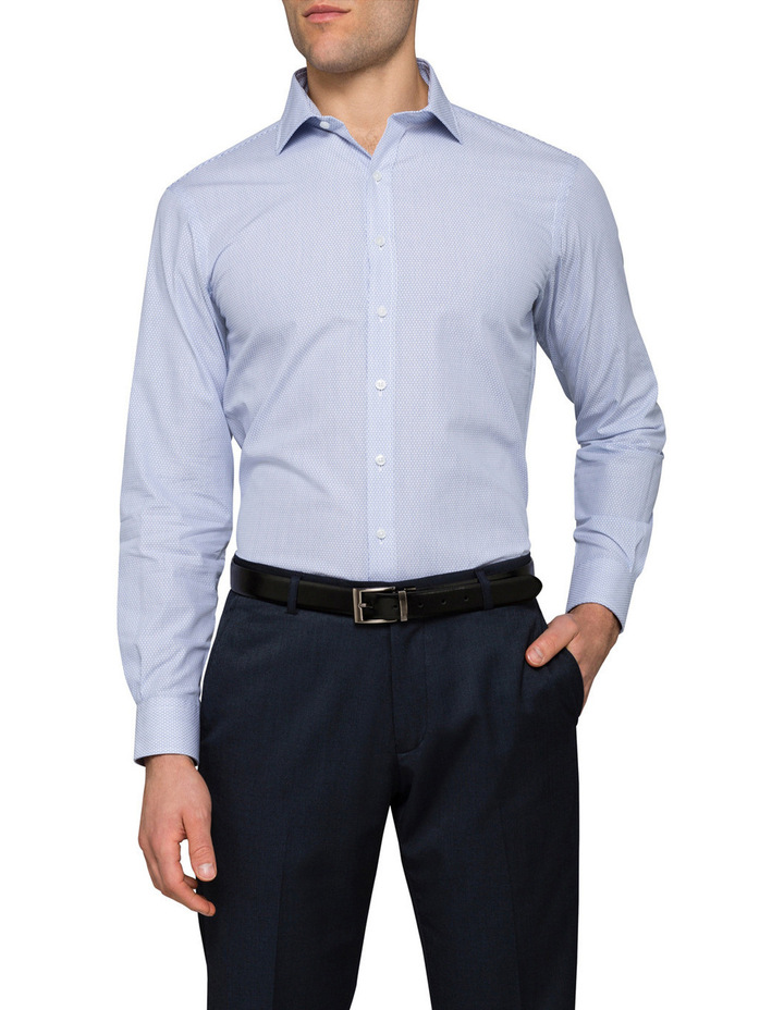 Blue Dobby Business Shirt image 1