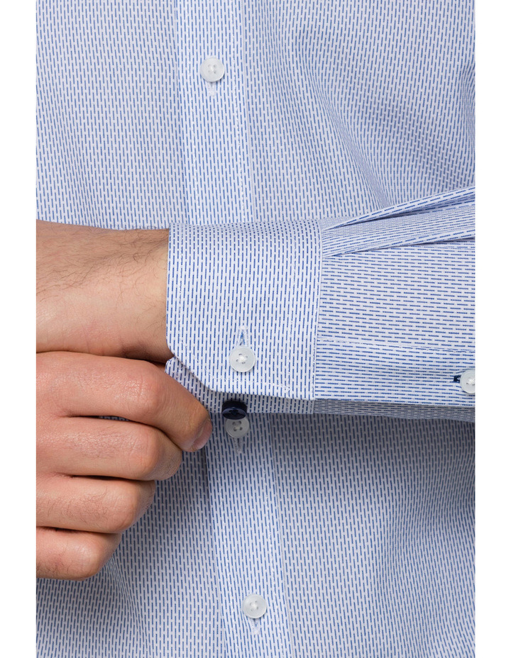 Blue Dobby Business Shirt image 3