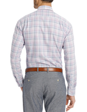 Van Heusen Euro - Lilac Check Business Shirt