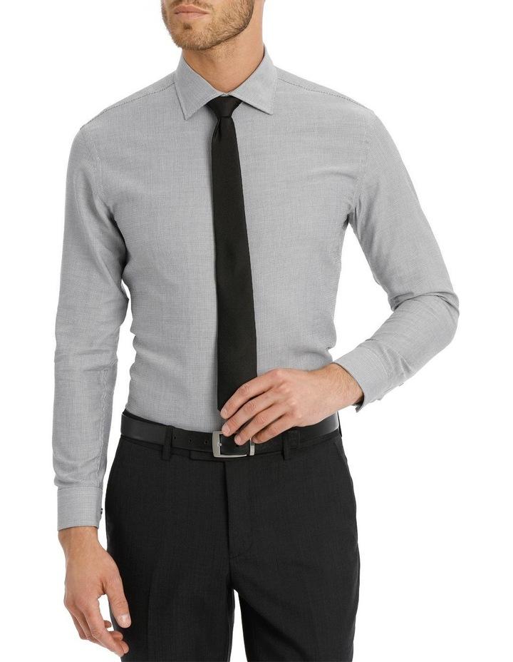 Van Heusen Slim Fit Grey Dobby Business Shirt image 1