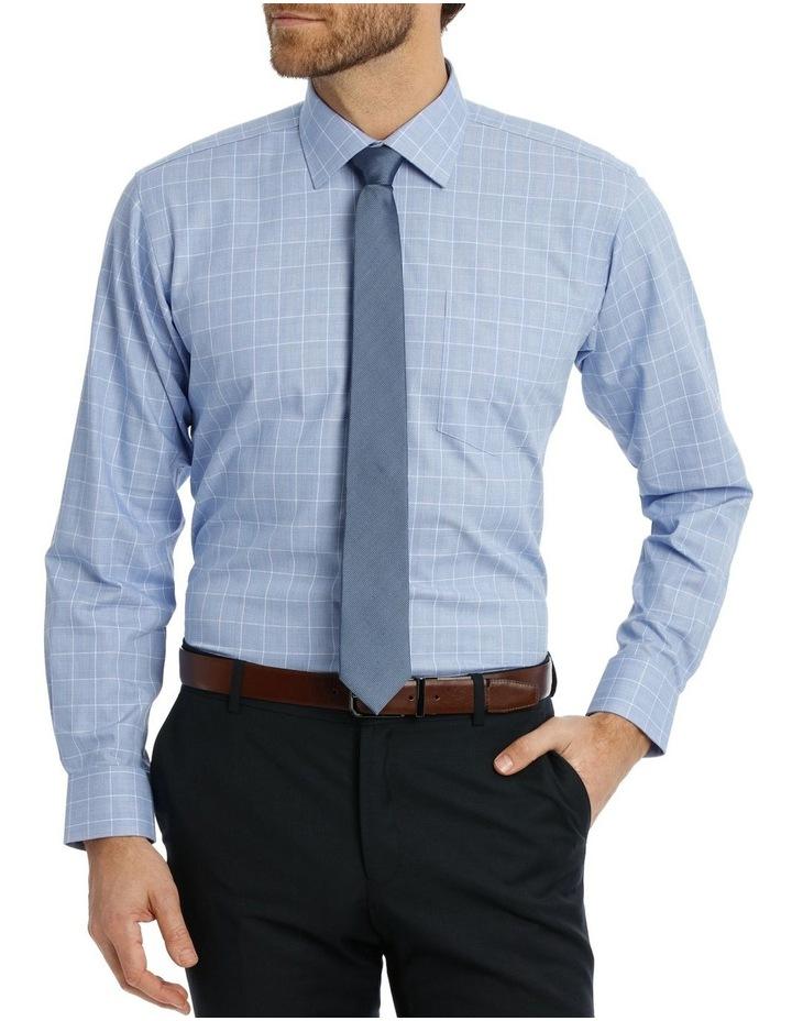 Caine Check Blue Business Shirt image 1