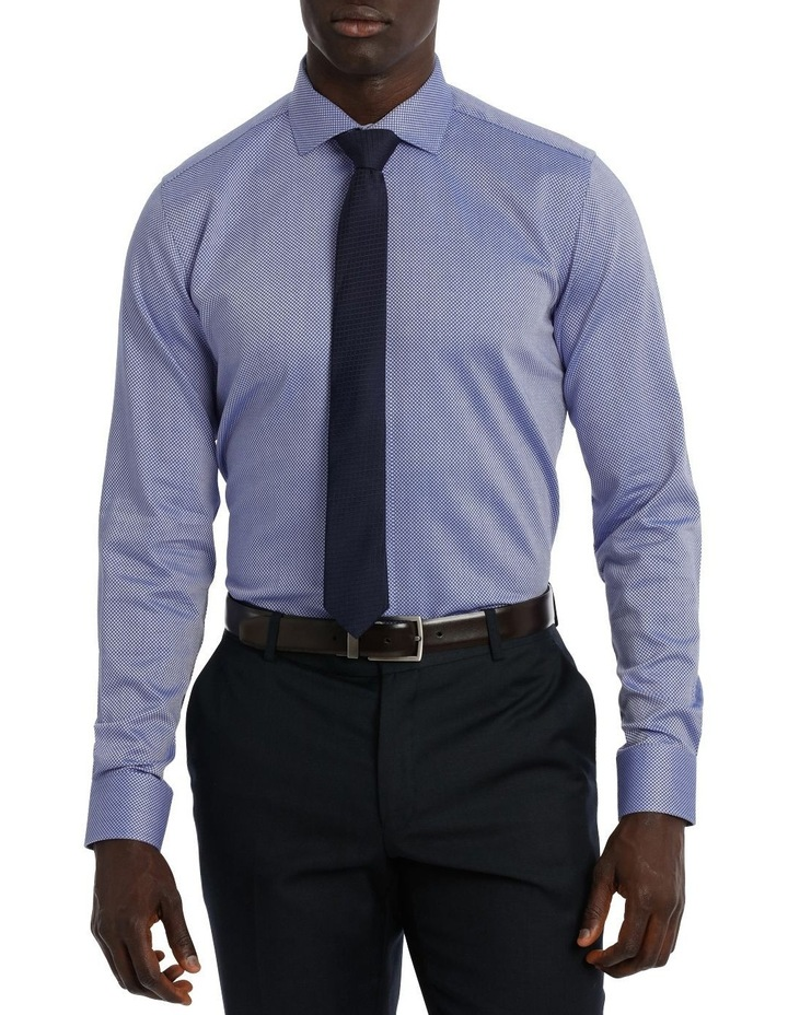 Callow Dobby Blue Business Shirt image 1