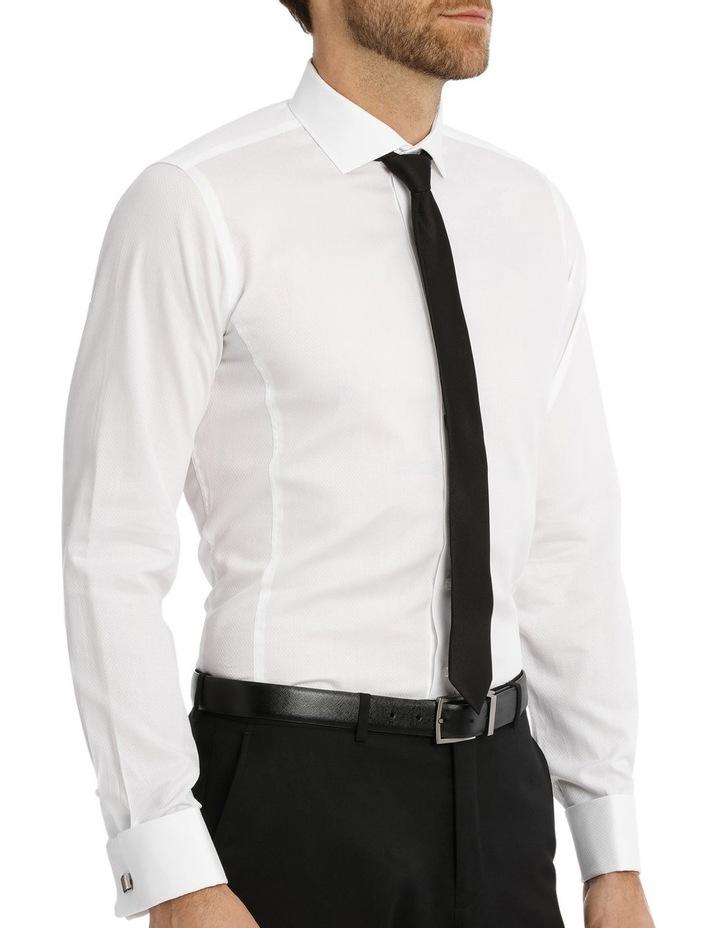 Day-Lewis Dobby White Business Shirt image 2