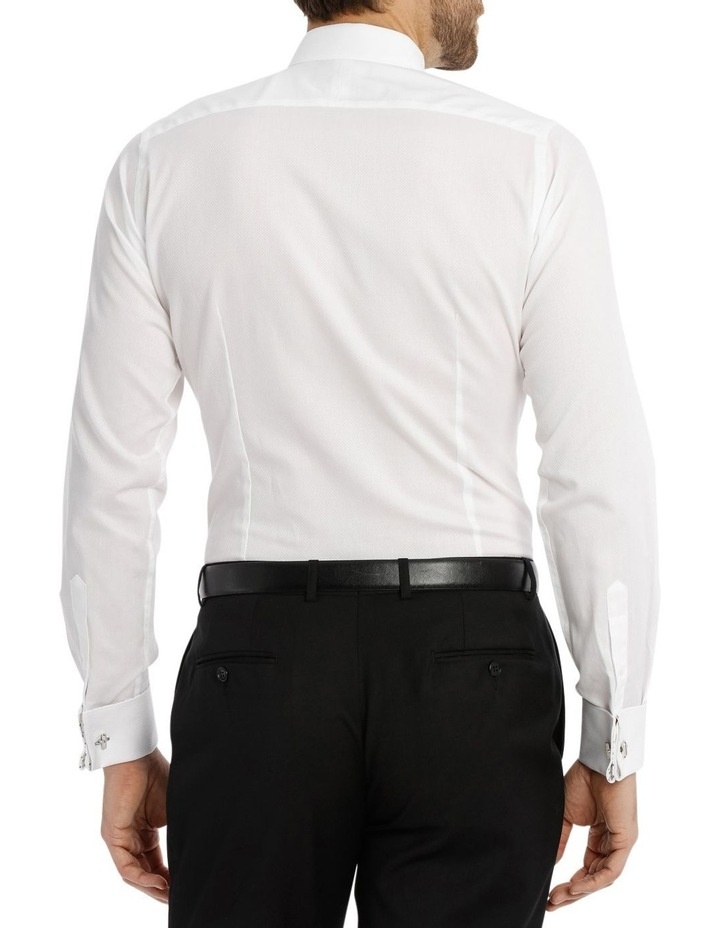 Day-Lewis Dobby White Business Shirt image 3