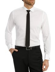 Day-Lewis Dobby White Business Shirt
