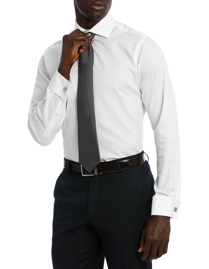 Bedford Textured Dobby White Business Shirt image 2