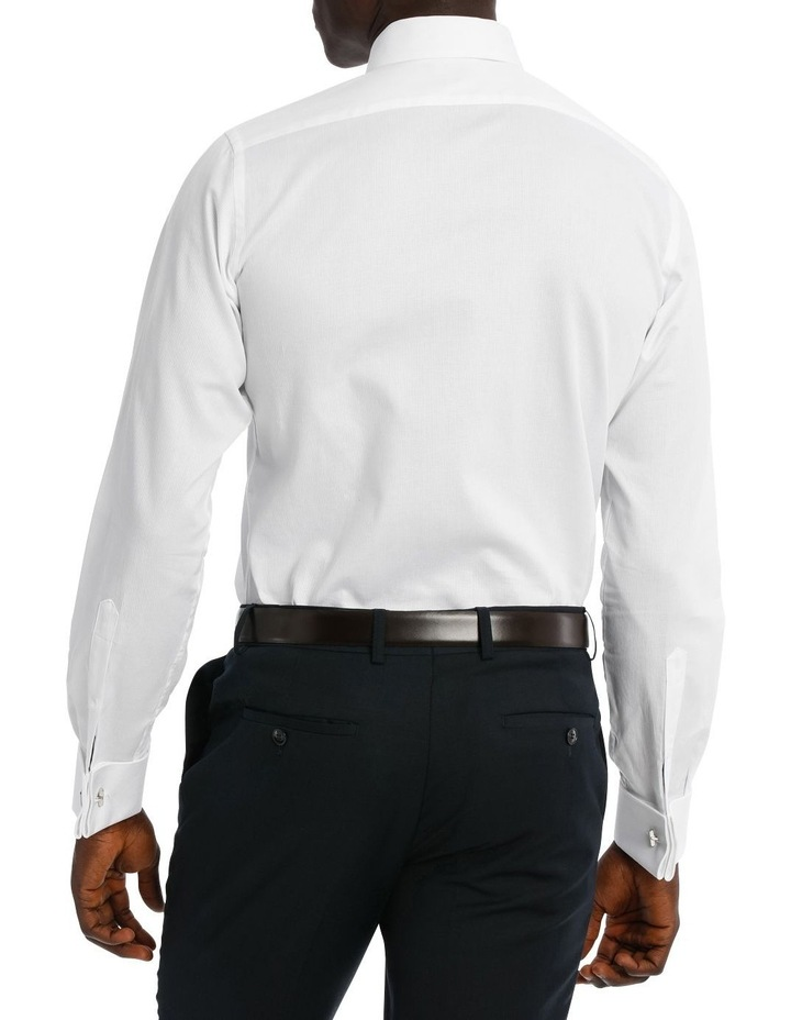 Bedford Textured Dobby White Business Shirt image 3