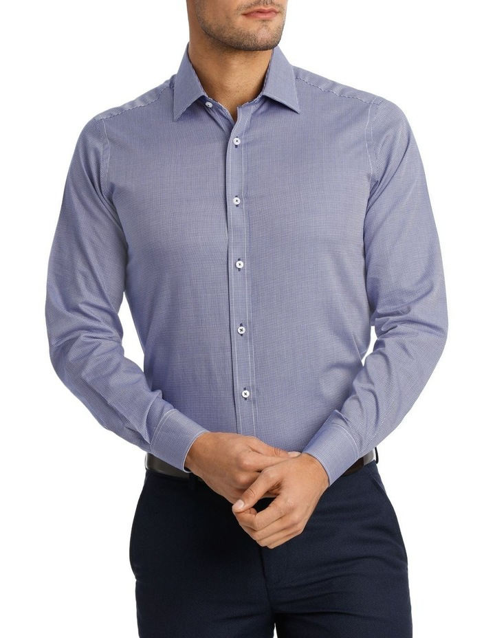 D'Arby Micro Check Royal Business Shirt image 1