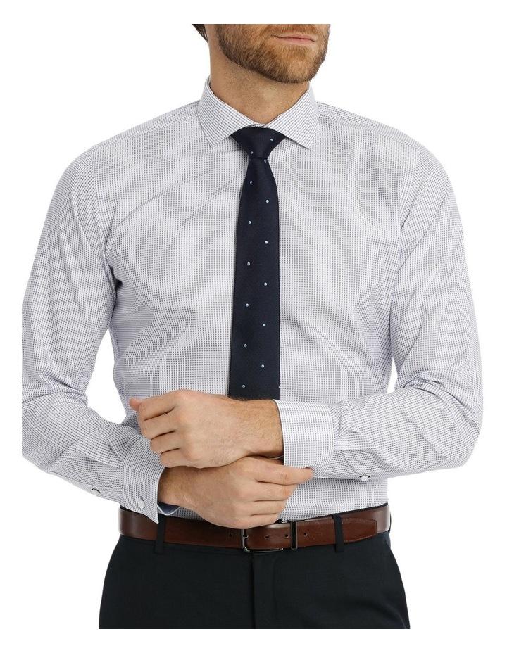 Slim Niven Dobby Stripe Blue Business Shirt K182602128 image 1