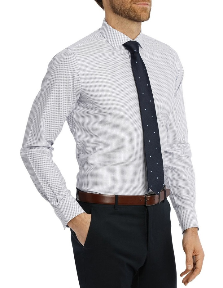 Slim Niven Dobby Stripe Blue Business Shirt K182602128 image 2