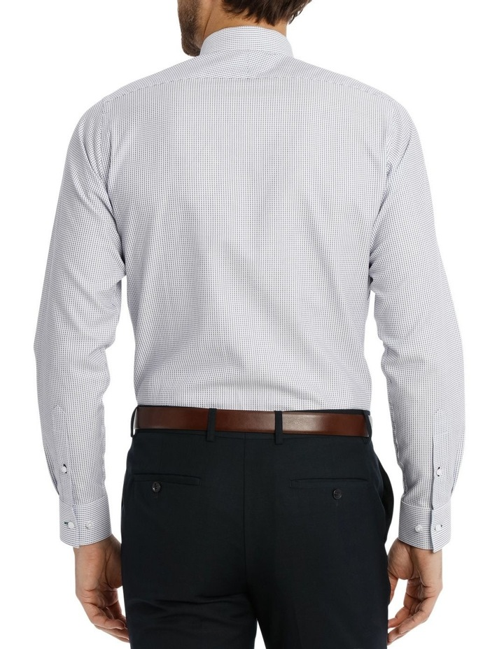 Slim Niven Dobby Stripe Blue Business Shirt K182602128 image 3