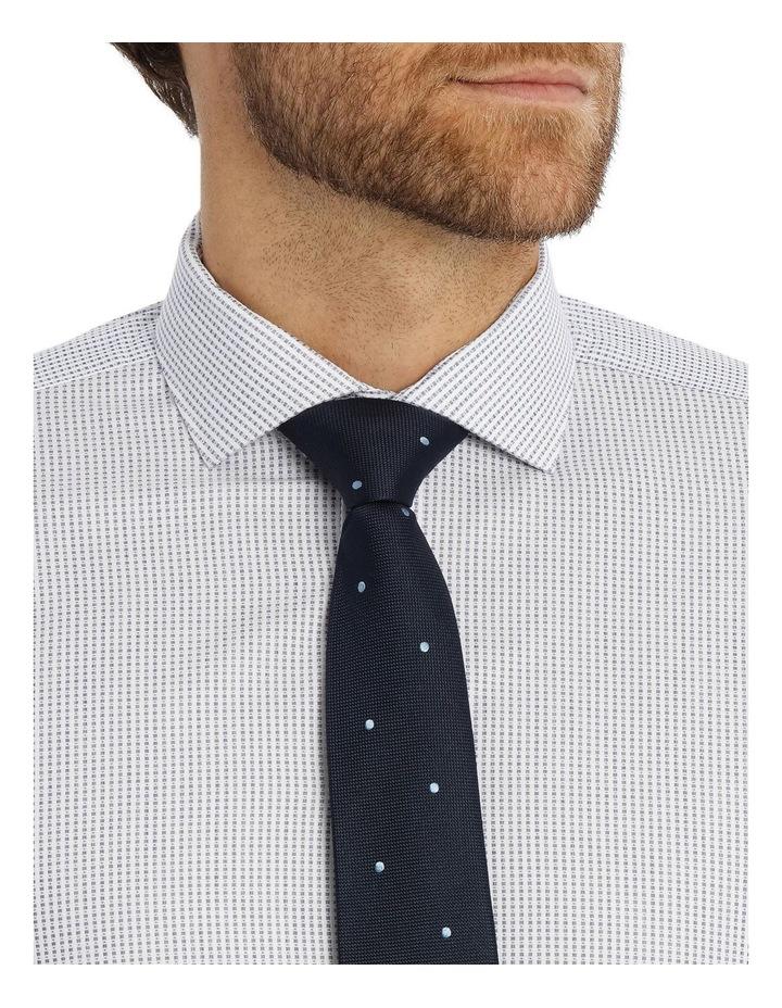 Slim Niven Dobby Stripe Blue Business Shirt K182602128 image 4
