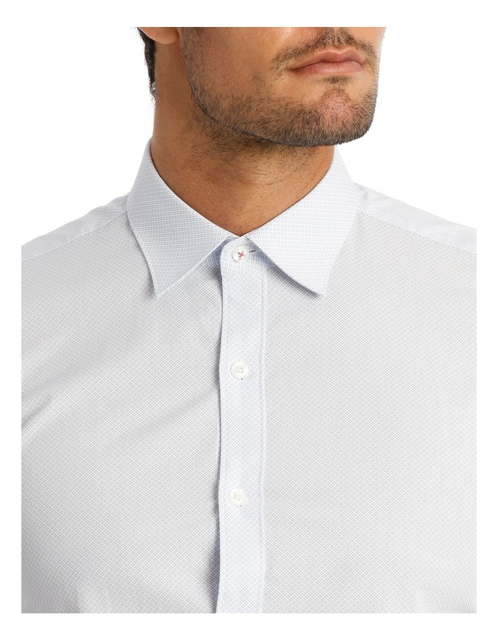 Career Micro Dot Print Light Blue Business Shirt image 4