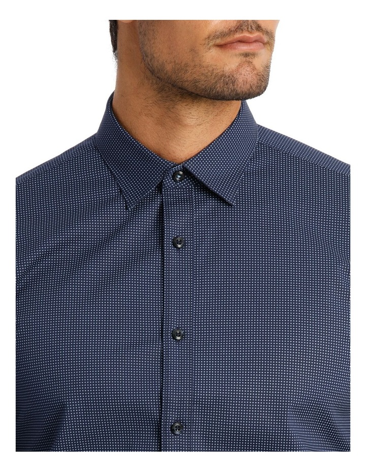 Career Spot Print Stretch Navy Business Shirt image 3