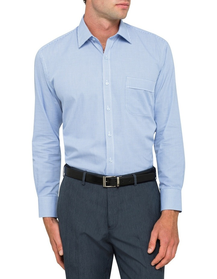 Blue Check Business Shirt image 1