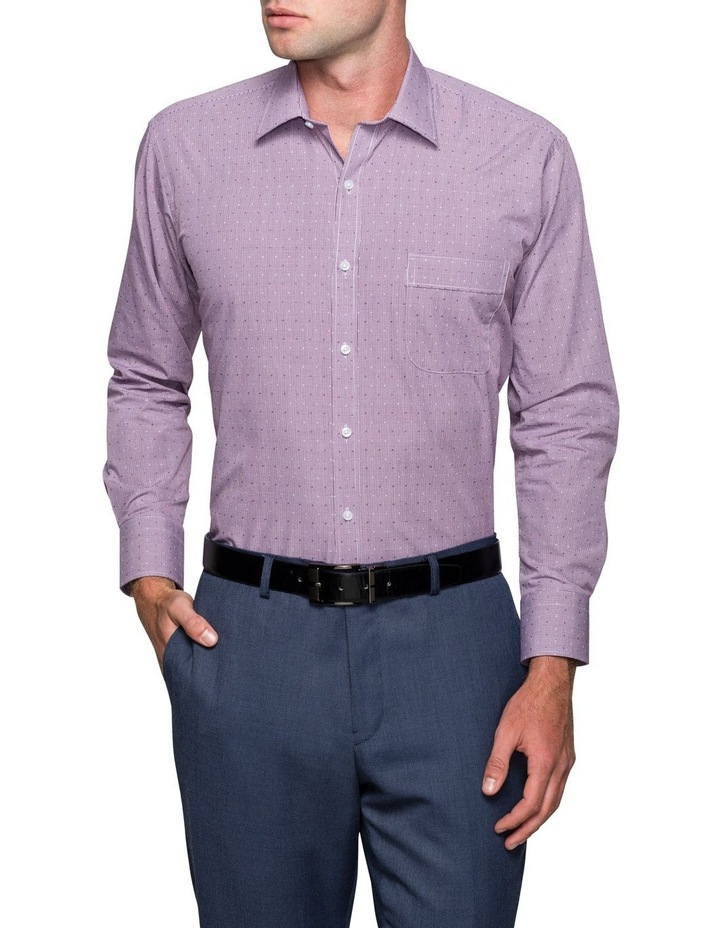Oxblood Gingham Dobby Business Shirt image 1
