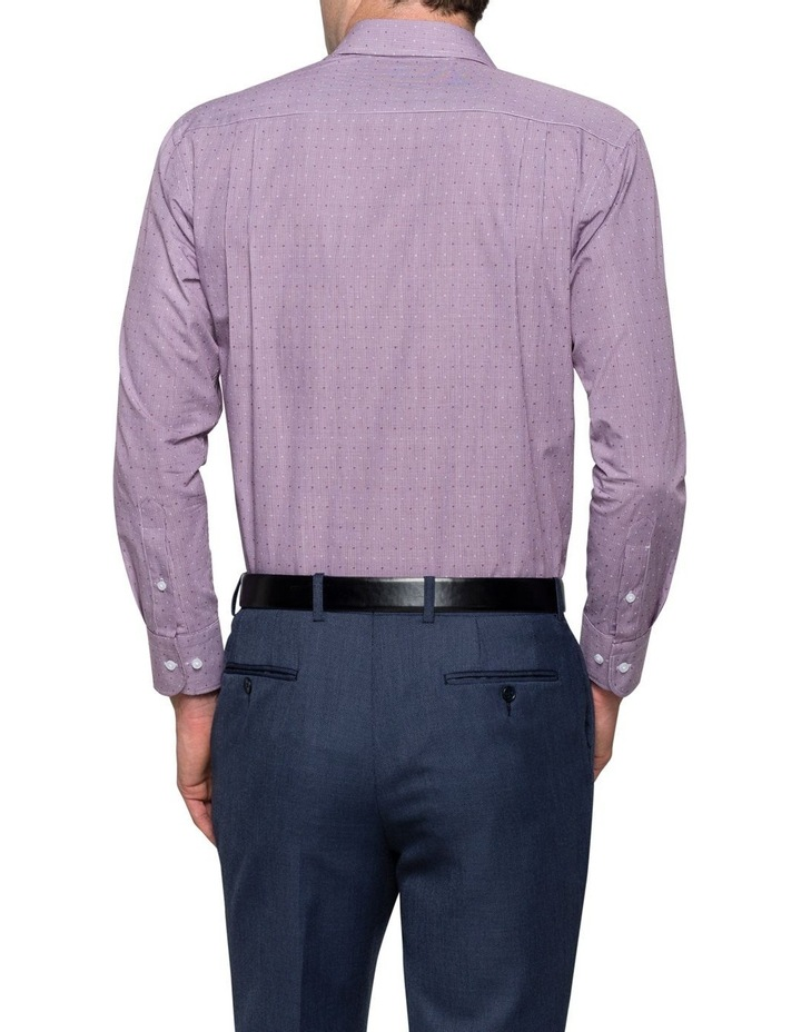 Oxblood Gingham Dobby Business Shirt image 2