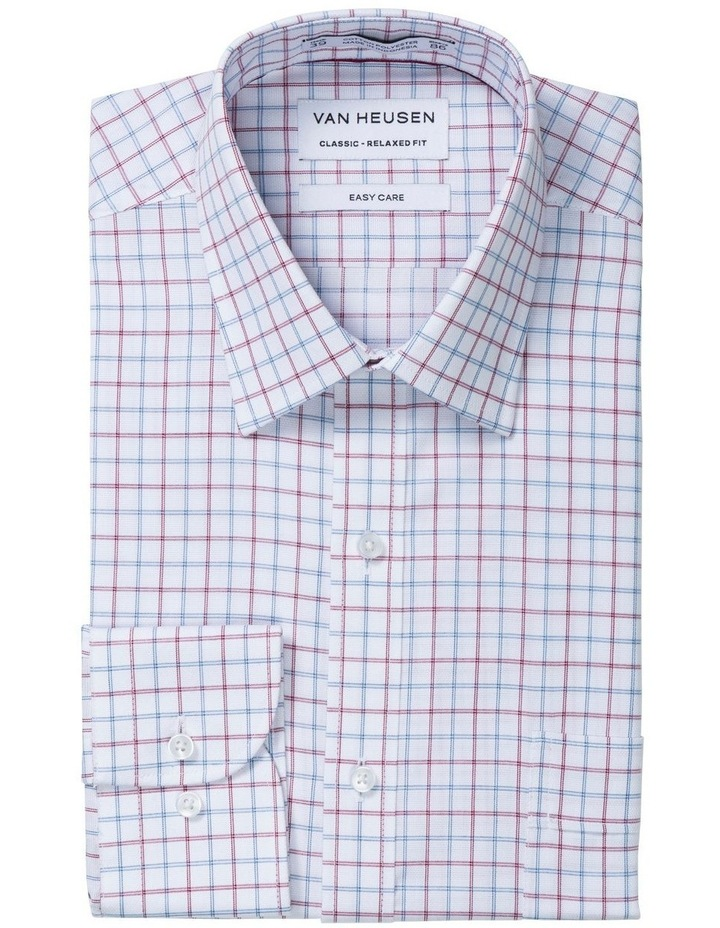 Van Heusen Oxblood Check Business Shirt image 1