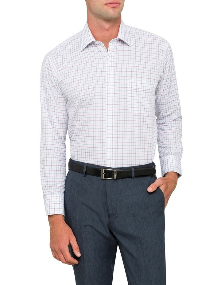 Van Heusen Oxblood Check Business Shirt image 2