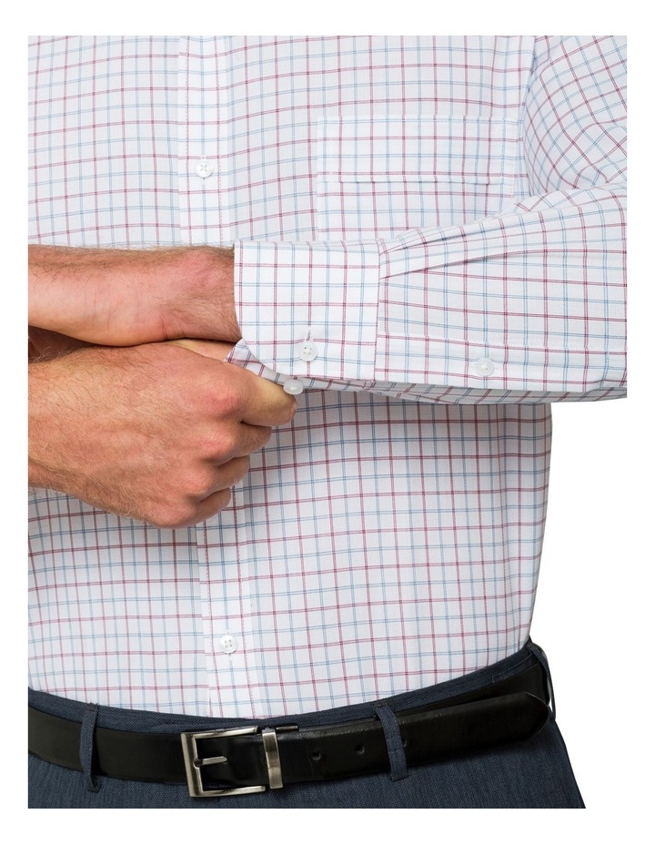 Van Heusen Oxblood Check Business Shirt image 4