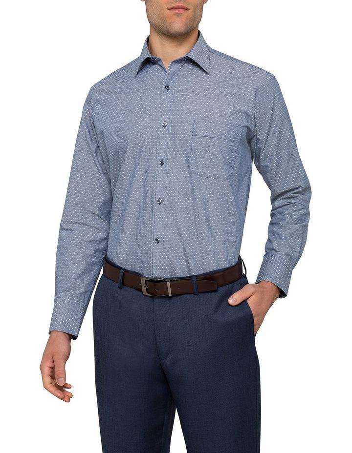Indigo Dobby Stripe Business Shirt image 2