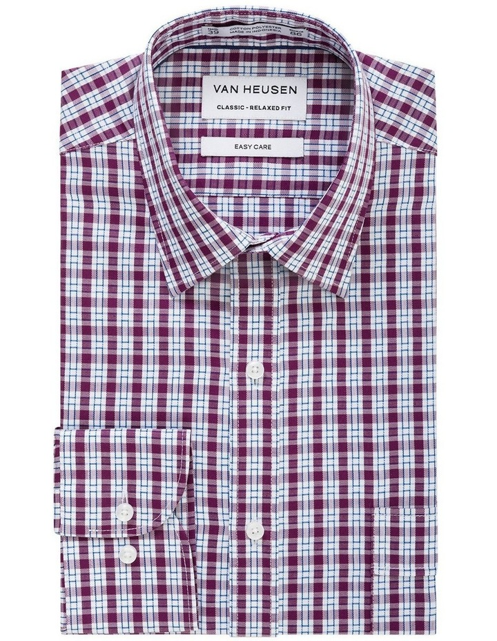 Van Heusen Grape Check Business Shirt image 1