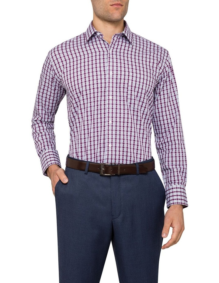 Van Heusen Grape Check Business Shirt image 2