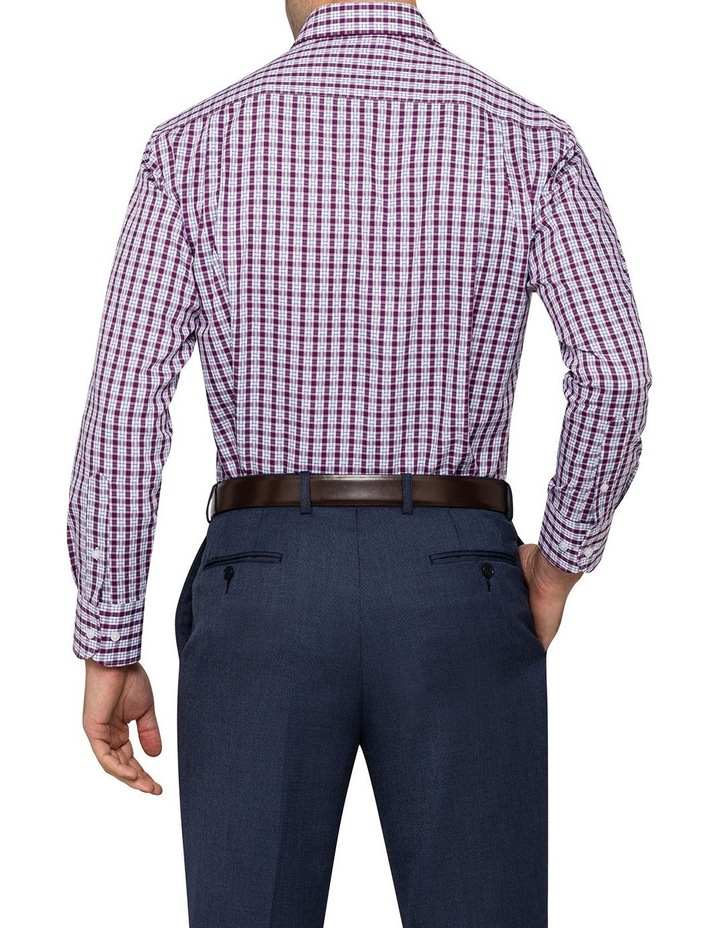 Van Heusen Grape Check Business Shirt image 3