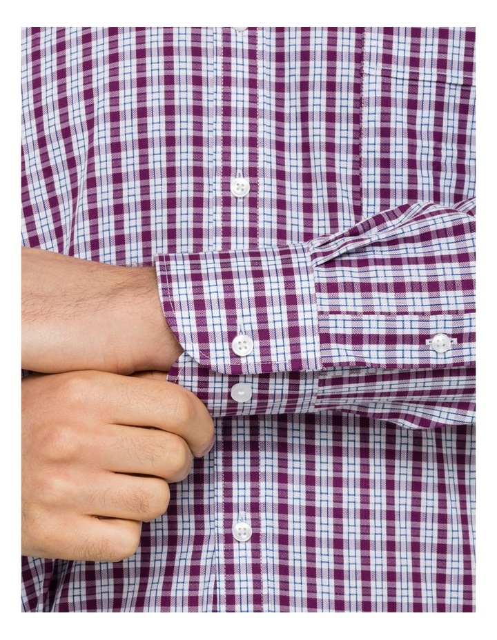Van Heusen Grape Check Business Shirt image 4